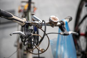 Closeup shot of a bicycle
