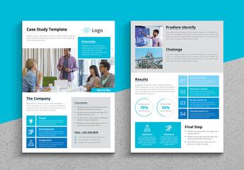 Fototapeta Business Case Study Layout obraz