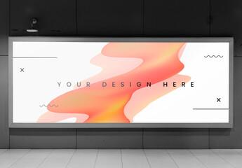 Obraz Billboard Mockup for Advertising - fototapety do salonu