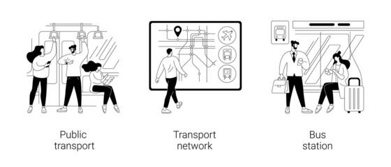 Obraz Public transport abstract concept vector illustrations. - fototapety do salonu