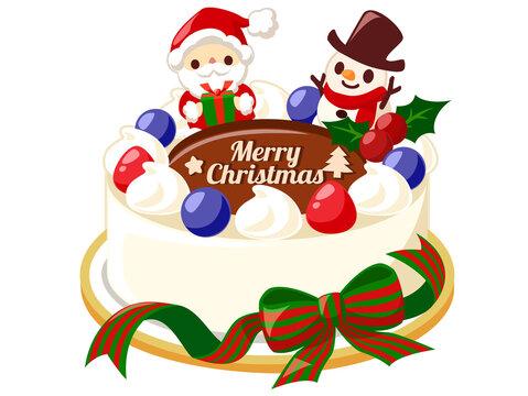 クリスマスケーキ クリスマス素材のアイコン/ベクター画像