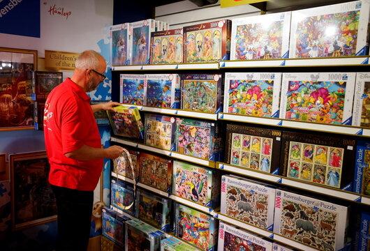Hamleys host their Christmas toy showcase in London