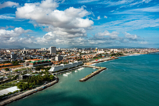 Aerial view of the city of Fortaleza. Beach cities.