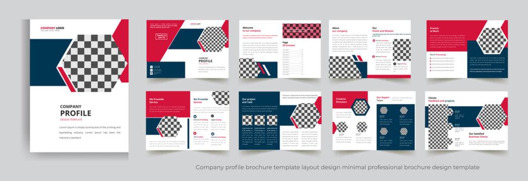 Company profile brochure template layout design minimal professional brochure design template