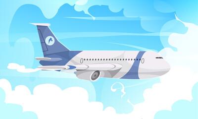 Obraz Airport Aircraft Flight Cartoon - fototapety do salonu