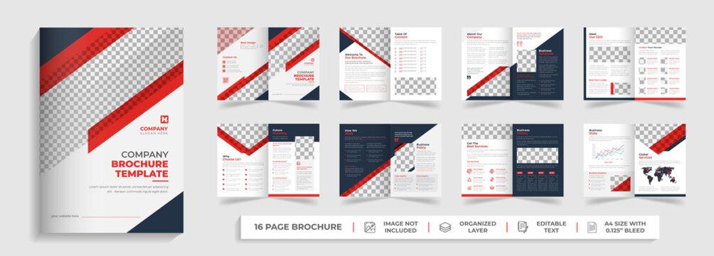 corporate modern bifold business proposal business brochure annual report template design