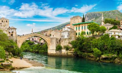 Obraz The Old Bridge in Mostar - fototapety do salonu