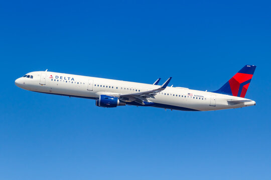 Delta Air Lines Airbus A321 airplane New York JFK airport in the United States