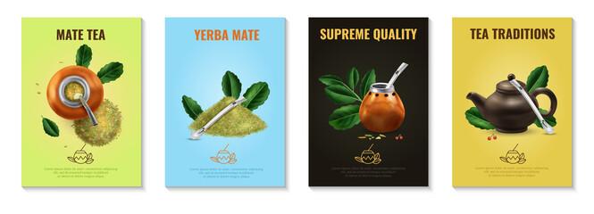 Obraz Mate Tea Posters Set - fototapety do salonu