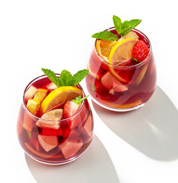 two glasses of red sangria