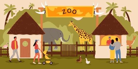 Fototapeta premium Zoo Entrance Background