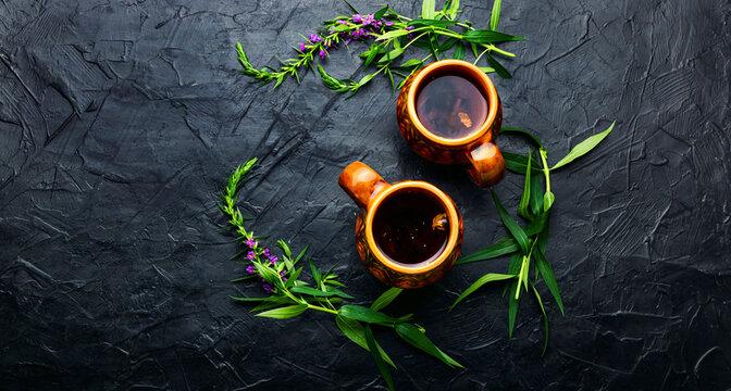 Aromatic fireweed tea