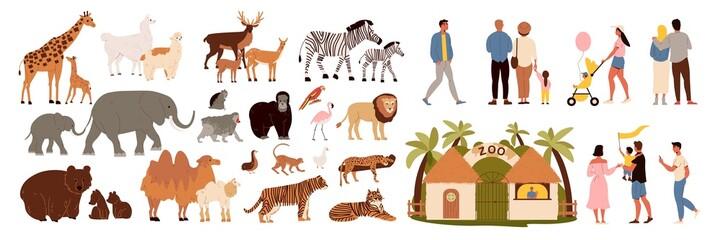 Fototapeta premium Zoo Icons Set