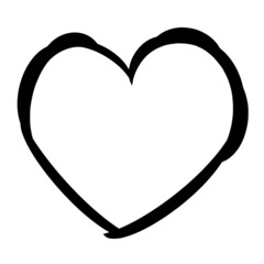 Obraz Vector silhouette of Love on white background - fototapety do salonu
