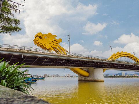 Dragon River Bridge, Rong Bridge in Da Nang, Vietnam