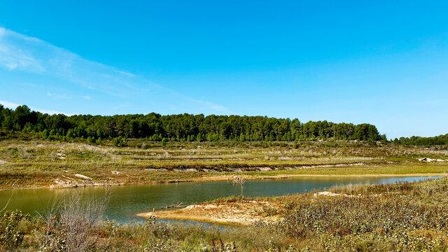 El Catllar reservoir, in Catalonia, Spain