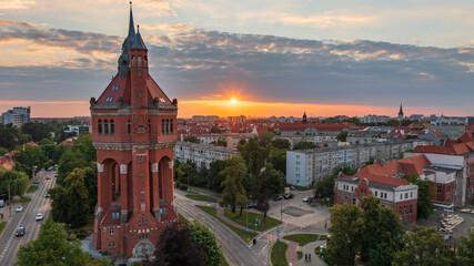 Fototapeta Wieża ciśnień, Borek, Krzyki, Wrocław, Polska, Poland obraz