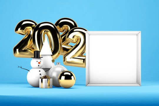 Happy New Year mockup on soft color background