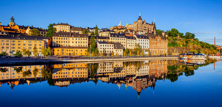 Stockholm, Sweden.Old Town architecture in Sodermalm district.