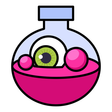 Filled outline icon for potion.