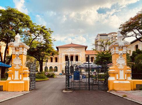 Old architecture of Saigon, Vietnam