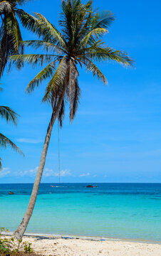 Beautiful blue sea on Phu Quoc Island, Vietnam