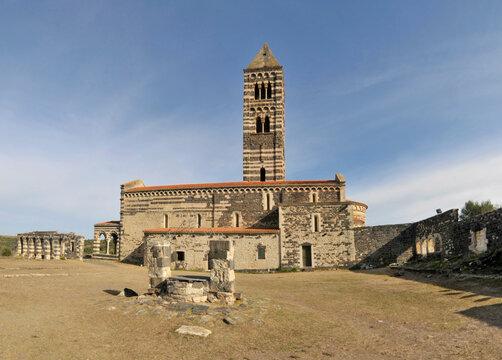 The Basilica della Santissima Trinità di Saccargia of Sardinia Italy