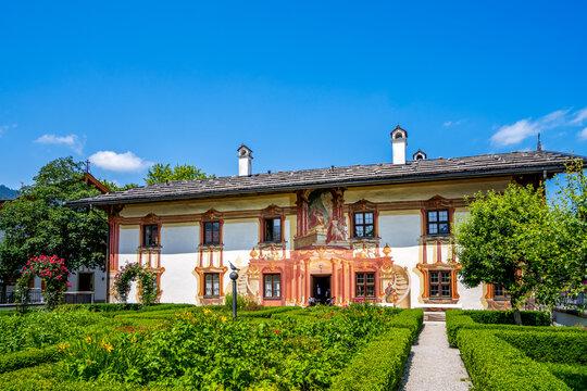 Rathaus, Oberammergau, Bayern, Deutschland