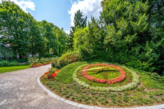Kurpark, Garmisch-Partenkirchen, Bayern, Deutschland