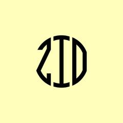 Fototapeta Creative Rounded Initial Letters ZIO Logo. obraz
