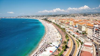 Obraz View of the cote d'Azur in Nice, France - fototapety do salonu