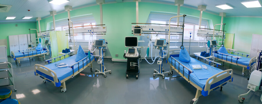 Intensive care unit at the hospital is ready to receive patients