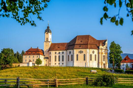 Wieskirche, Steingaden, Allgäu, Bayern, Deutschland