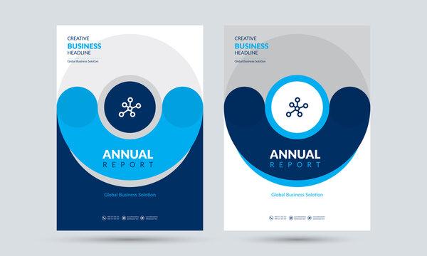 Creative Annual Report  Design Template Concept