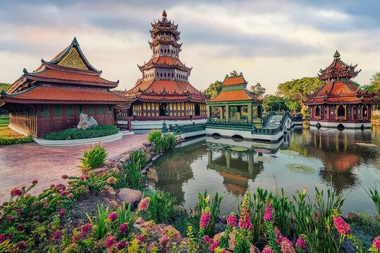 Muang Boran, the ancient city in Thailand