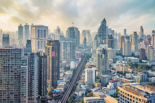 Sukhumvit district in Bangkok city