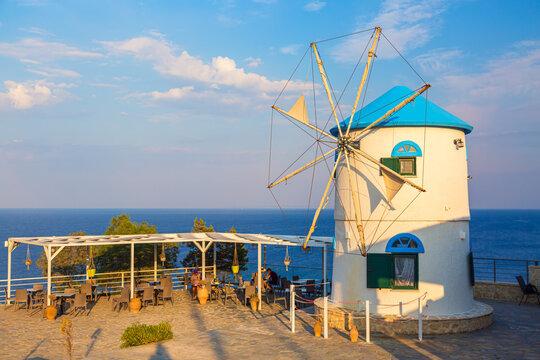 Traditional greek windmill on Zakynthos island in Greece