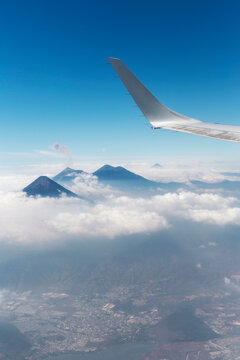 Guatemala city, volcanos, acatenango volcano, guatemala