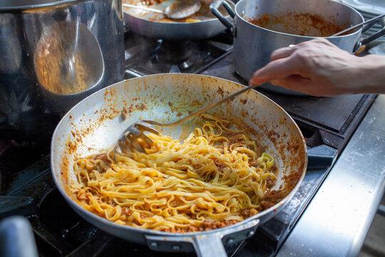 tagliatelle italian cuisine typical dishes of emilia romagna bologna modena reggio emilia