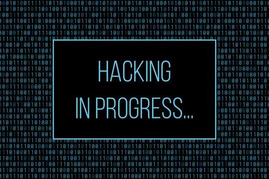 Hacking in progress message
