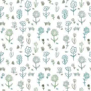 Hand drawn fashion floral pattern