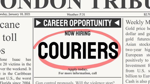 Courier job offer