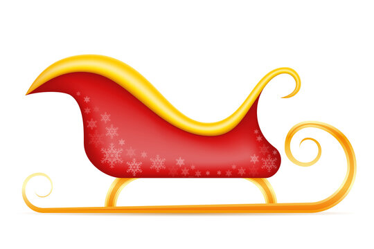santa claus christmas sleigh vector illustration