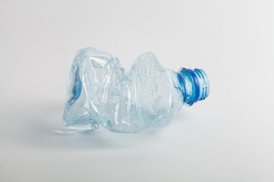 Used empty PET water bottle, recycling, reuse and world environment day concept