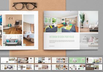 Obraz Interior Design Portfolio Layout - fototapety do salonu
