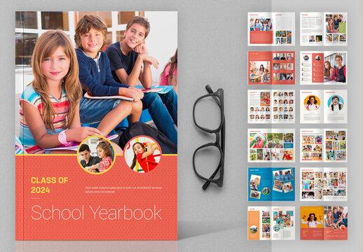School Yearbook Layout