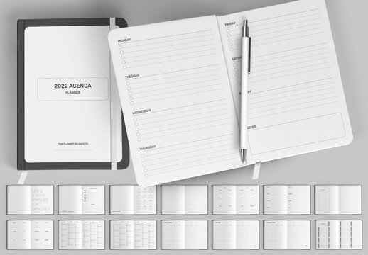 Monthly Planner 2022 Calendar Layout