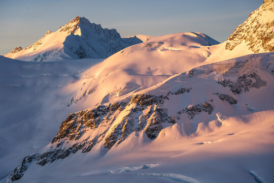 Glacier and mountain peaks
