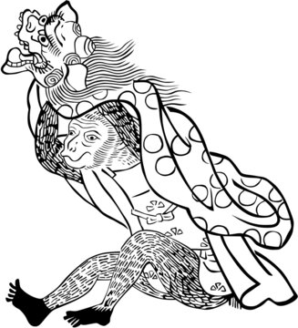 浮世絵 猿 その3