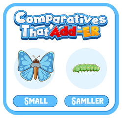 Comparative and Superlative Adjectives for word small